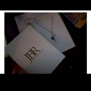 J.B Robinson 925 Blue Sapphire Necklace Pendant